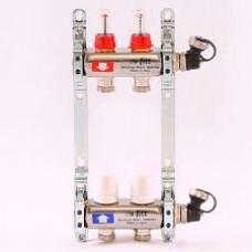 Коллектор из нержавеющей стали MEIBES с расходомерами на 2 выхода
